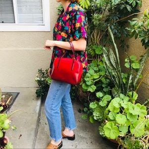 Vintage burgundy ombré Prada leather purse